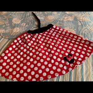 Minnie Mouse sparkle polka dot skirt with tail, 14